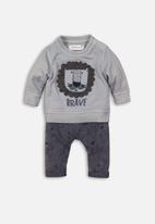 MINOTI - Sweatshirt & jog pant set - smokey blue
