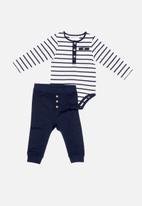 MINOTI - Bodysuit & jogger set - navy & white