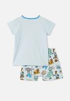 Cotton On - Hudson short sleeve pyjama set - blue
