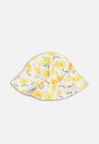MINOTI - Lemon fisherman hat - white & yellow