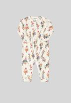 UP Baby - Soft jersey cotton long sleeve romper - white