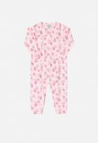 UP Baby - Soft jersey cotton long sleeve romper - pink