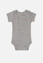 UP Baby - Baby boys short sleeve babygrow - grey