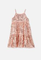 Free by Cotton On - Georgia dress up dress - pink/gold