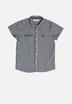 MINOTI - Checked shirt - navy