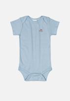 UP Baby - Baby boys short sleeve babygrow - blue