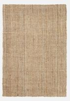 Fotakis - Ribbed jute rug - natural