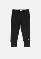 UP Baby - Soft jersey cotton pants - black