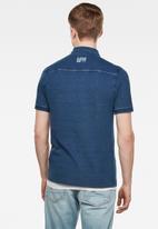 G-Star RAW - Indigo short sleeve polo - faded indigo