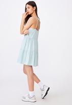 Factorie - Button tiered dress - light blue