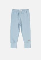 UP Baby - Soft jersey cotton pants - blue
