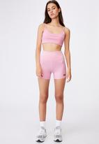 Factorie - Cheeky elevated high waisted bike short - pink