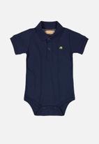 UP Baby - Boys golfer bodysuit - navy