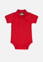 UP Baby - Boys golfer bodysuit - red