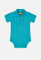 UP Baby - Boys golfer bodysuit - blue