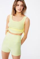 Factorie - Cheeky elevated high waisted bike short - yellow