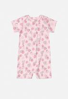 UP Baby - Soft jersey cotton romper - pink