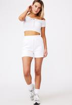 Factorie - Rib key hole front top - white