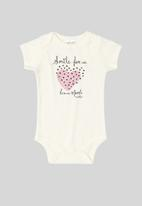 UP Baby - Soft jersey cotton bodysuit - off white