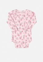 UP Baby - Soft jersey cotton long sleeve bodysuit - pink