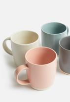 Sixth Floor - Tove mug set of 4 - multi