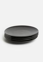 Sixth Floor - Studio side plate set of 4 - black