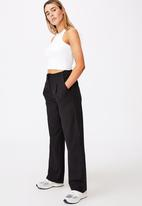 Factorie - Tailored pant - black & white