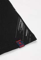 SOVIET - Crew neck fashion print tee - black