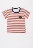 POP CANDY - Boys stripe tee - rust & white