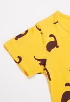 POP CANDY - Boys dino print tee - yellow