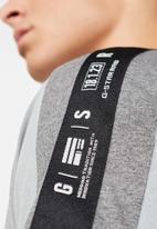G-Star RAW - Sport tape logo tee - grey