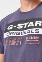 G-Star RAW - Originals label logo slim r short sleeve tee - purple