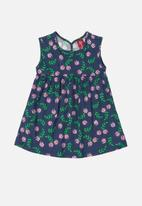 Bee Loop - Girls printed dress - navy