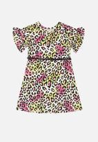 Quimby - Girls animal print dress - multi