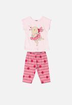 Bee Loop - Girls tee & 3/4 pants - pink