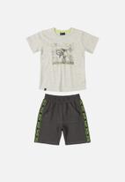 Quimby - Boys t-shirt & sweat shorts set - light grey
