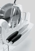 OXO - Gg ss folding dish rack - white & grey