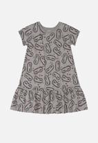Quimby - Girls floral nightdress - grey