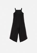 Gloss - Jersey jumpsuit - black
