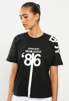 SISSY BOY - Oversized logo tee - black
