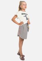 Gloss - Girls easy skirt - grey
