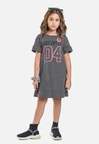 Gloss - T-shirt dress & scrunchie set - grey
