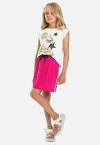 Gloss - Girls printed tank top - off white