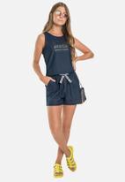 Gloss - Denim jersey romper - dark blue