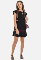 Gloss - Girls jersey dress - black