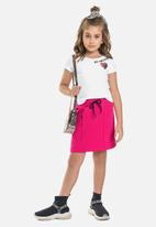 Gloss - Neoprene skirt - pink