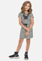 Gloss - Stripe jersey dress - grey