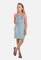 Gloss - Denim pinafore dress - light blue