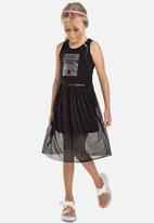 Gloss - Tank top & skirt set - black