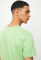 KAPPA - Authentic estessi tee - green/white